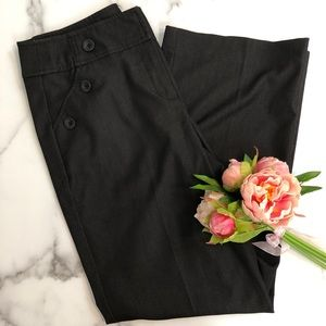 New Directions black wide leg sailor trousers 10